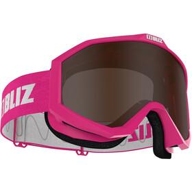 Bliz Liner Gafas Lentes de Contraste, pink-white/brown
